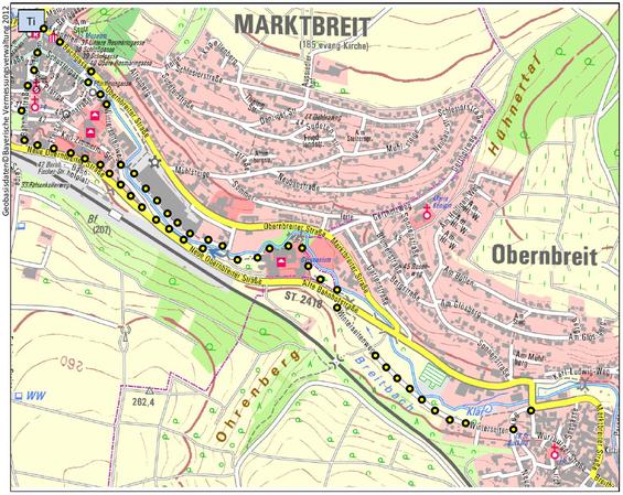 Wanderweg: Von Marktbreit nach Obernbreit