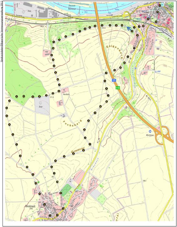 Rundwanderweg: Von Marktbreit nach Gnodstadt